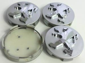 Silber-4-x-60mm-Peugeot-ABS-Alufelge-Nabenkappen-Nabendeckel-Satz