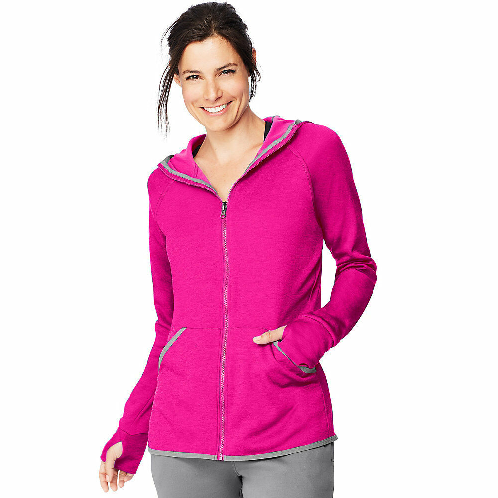 2 Hanes Sport™ Women's Performance Performance Performance Fleece Zip Up Hoodies O4873 b8c722