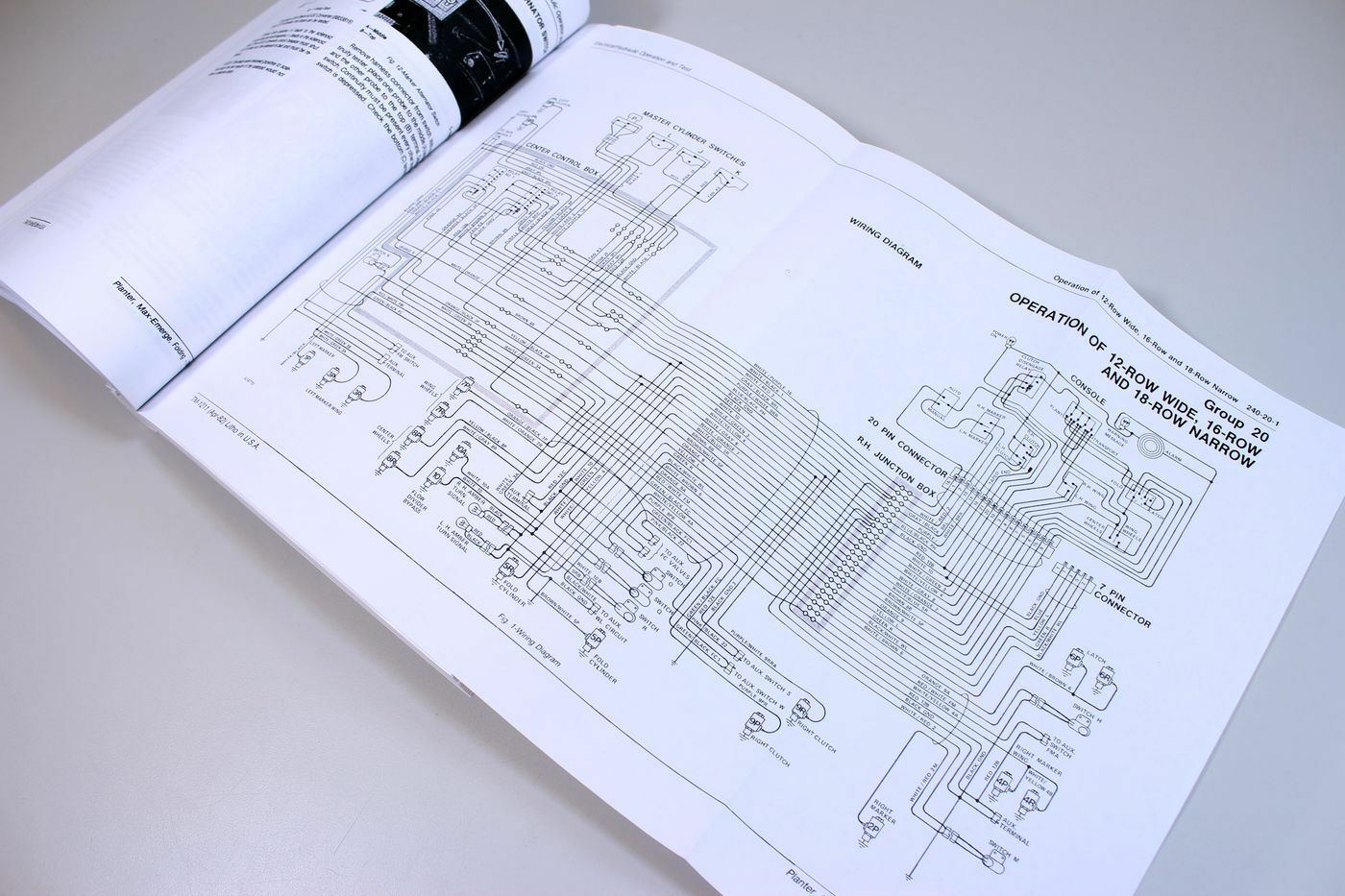 John Deere 7000 Folding Max Emerge Planter Service Repair Manual Wiring Diagram Solenoid Shop Book Jd Ebay