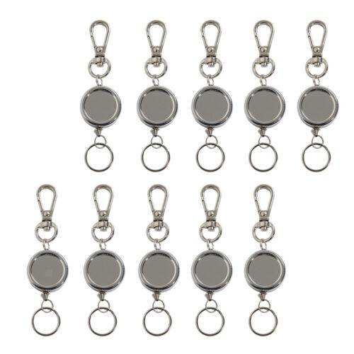 10 x Mutifuntkion Camping Schlüsselrolle versenkbare Schlüsselanhänger