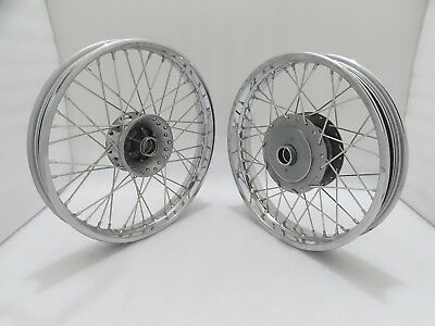 """Details about  /ROYAL ENFIELD 19/"""" FRONT /& 18/"""" REAR WHEEL RIM SET FOR CLASSIC C5 UCE NEW BRAND"""