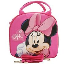 Disney Minnie Mouse Lunch Box Bag with Shoulder Strap and Water Bottle