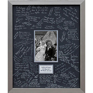 Personalised Luxury Wedding Guest Book Signing Frame