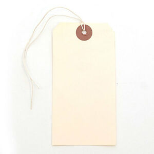 """Count of 1000 New Manila Shipping Blank Tag with string 2-3/8"""" X 4 3/4"""""""