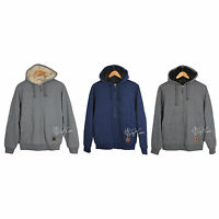 Field & Stream Quilted Men Sherpa Lined Hoodie Hooded Sweatshirt Jacket $100