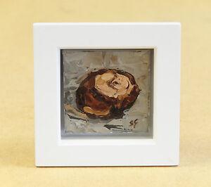 Conker-ORIGINAL-OIL-PAINTING-Steve-Greaves-Art-Horse-Chestnut-Tree-Still-Life