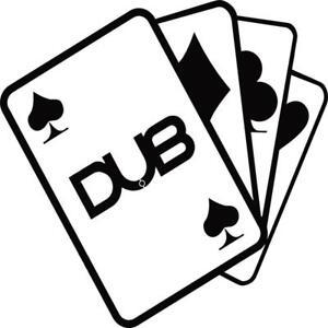 Dub-aces-VW-vinyl-decal-sticker-VW-t4-t5-camper-golf-polo-euro-passat-beetle