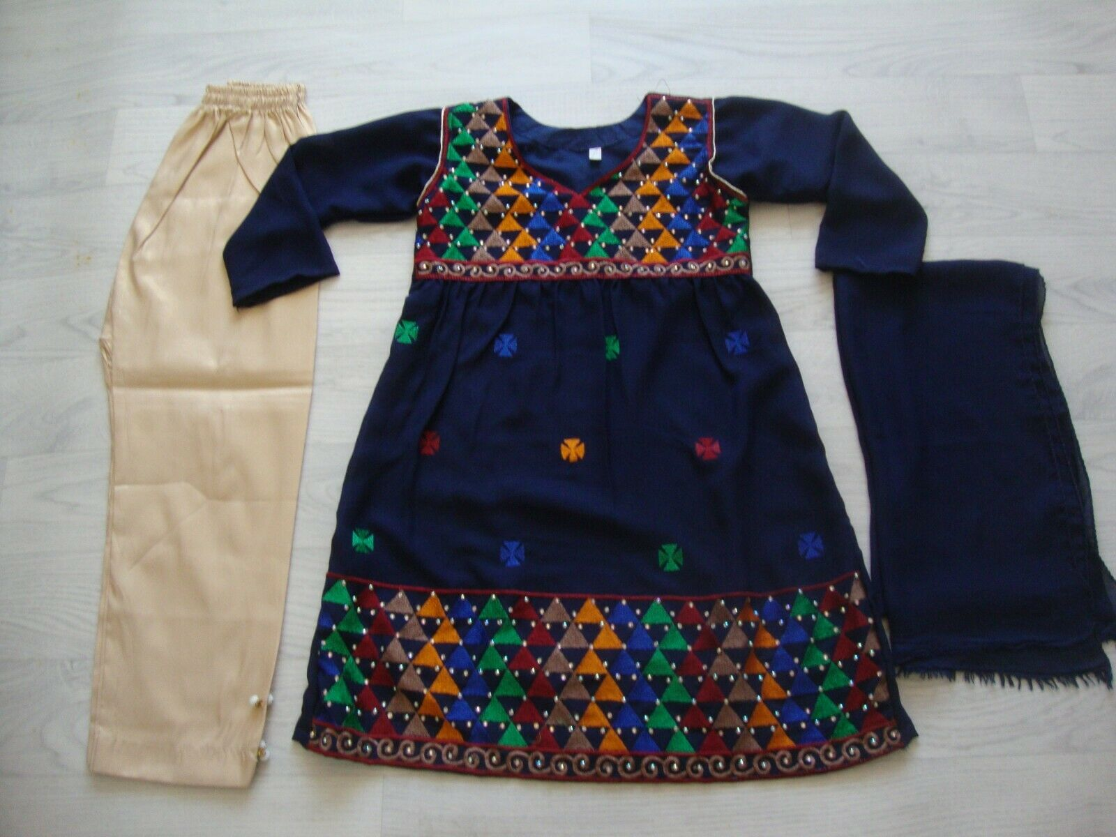 childrens chiffon Embroidered Frock Type PARTY WEAR 3pc suit Party wear