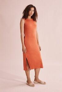 Country Road Linen Jersey Tank Dress - Saffron