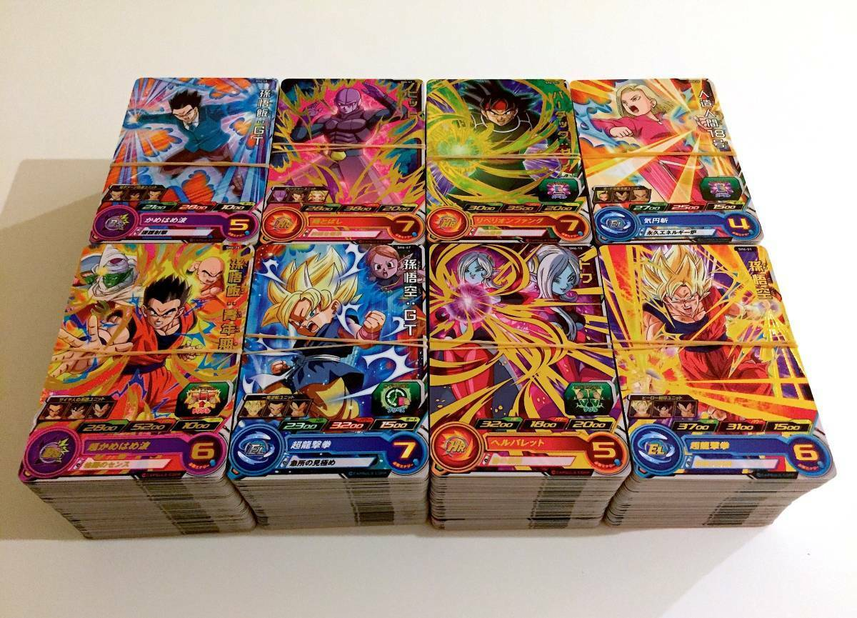 DRAGON BALL HEROES SUPER LOT 1000 CARTES   CARDS   RARE HUGE DBZ GOKU