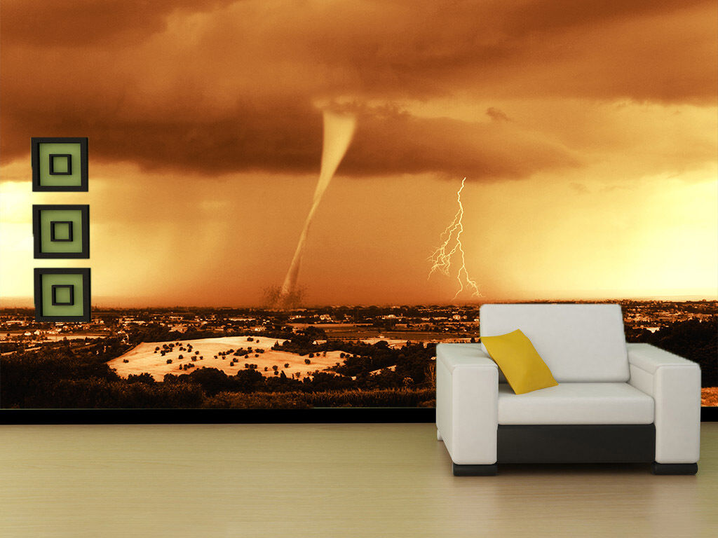 3D Blitz und Donner 23676 Fototapeten Wandbild Fototapete BildTapete Familie DE