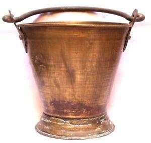 Indian-Old-Vintage-Hand-Carved-Brass-Water-Milk-Balti-Bucket-Br-493