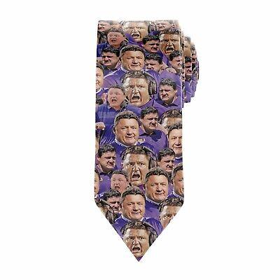 SEC Conference College Team Logos Necktie Neck Tie Black Alabama Georgia LSU