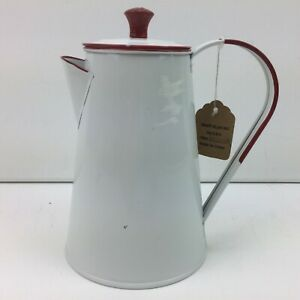 Reproduction-Red-Kitchen-Enamelware-Coffee-Pot-Kettle-Lid