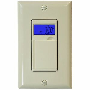 7 day digital programmable timer light switch for outdoor lights image is loading 7 day digital programmable timer light switch for aloadofball Gallery