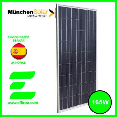 Placa panel solar 165w 12v panel solar Policristalino.