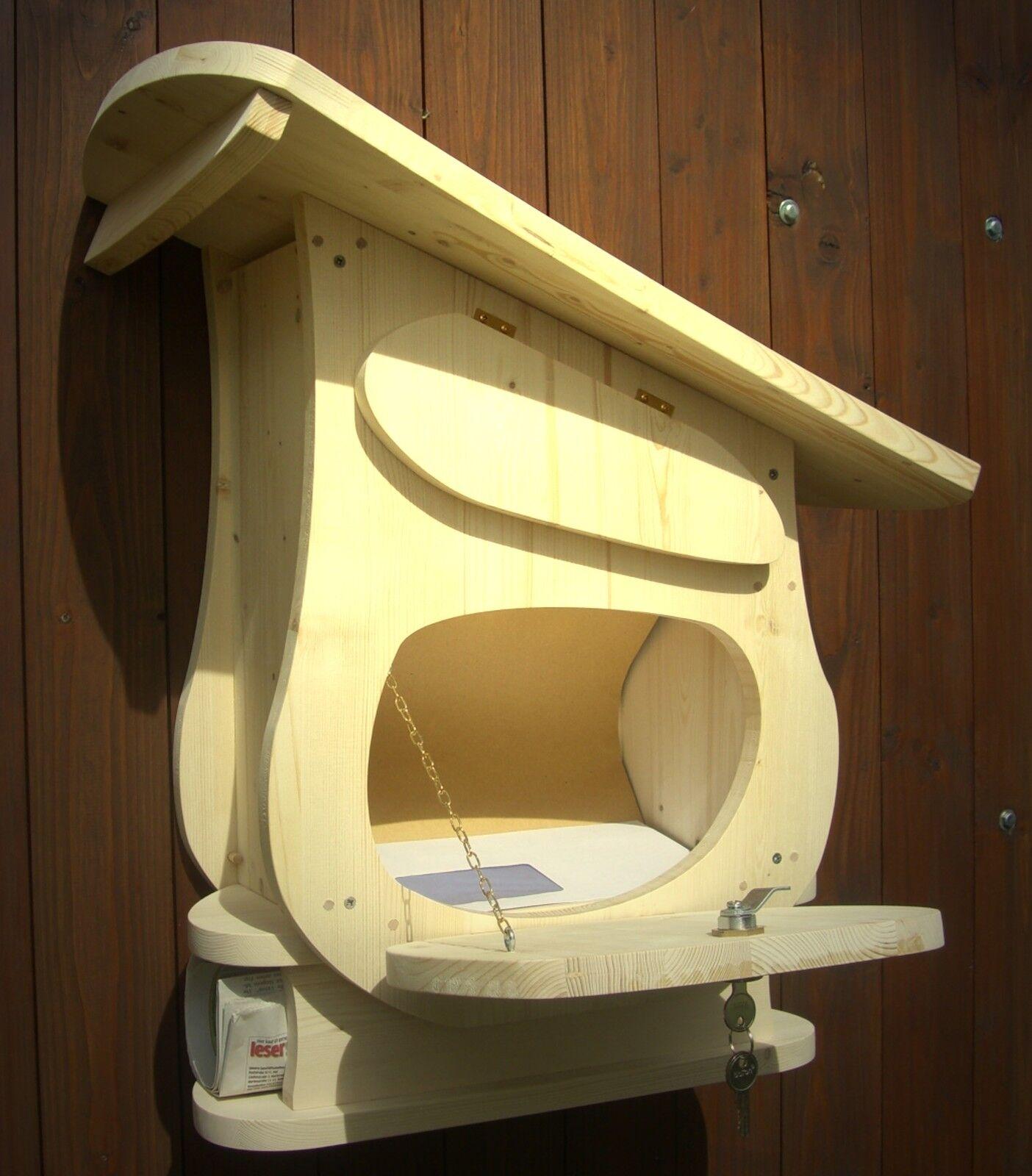 Holz-Briefkasten Holz-Postkasten zum selbst bemalen   Typ Schrägdach