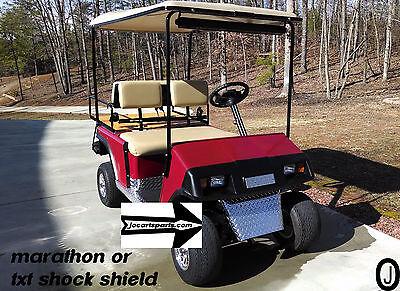 Ezgo MARATHON & TXT Golf Cart Diamond Plate SHOCK SHIELD.