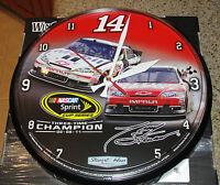 "TONY STEWART #14 SPRINT SERIES 3-TIME CHAMPION 02-05-11 NASCAR 12"" CLOCK"