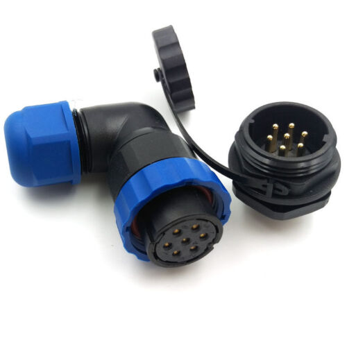 SD20,7pin Waterproof Connectors Plug Socket,20mm Panel Mount Connector IP68