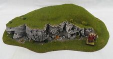 Wargaming Rock Faced Hill Terrain Suitable For Warhammer Warmachine