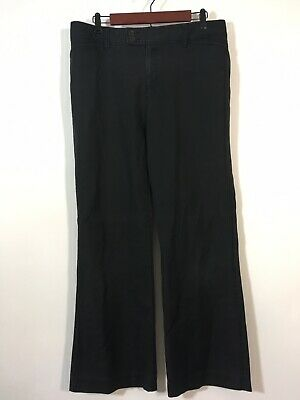 Eddie Bauer Pleated Black Wrinkle Resistant Chino Pants    Size 12P