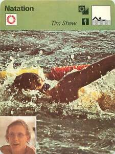 """FICHE CARD: Tim Shaw USA Freestyle swimmer Water polo Natation SWIMMING 1970s - France - EBay Jeux Olympique Olympic GamesPORT EUROPE GRATUIT A PARTIR DE 4 OBJETSBUY 4 ITEMS AND EUROPE SHIPPING IS FREE FICHE FRANCE ANNEES 70s Nageur Nage libre ETAT VOIR PHOTO FORMAT 16 CM X 12 CM SIZE : 6.29 """" X 4.72 """" inch FICHE SPORT NATATION.1 - France"""