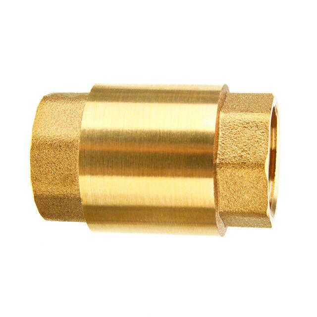 1/2'' NPT Brass Female Female Thread In Line Spring Vertical Check Valve One Way