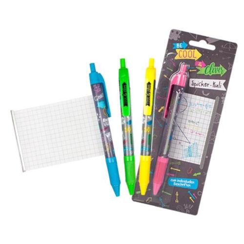 Spicker Kugelschreiber Trendhaus Cool /& Clever Kuli Spickzettel