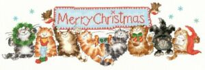 Merry Catmas - Margaret Sherry - Bothy Threads Cross Stitch Kit New