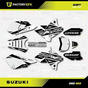 Gray Shift # Number Plate Graphics Kit fits Suzuki DRZ400SM Drz400s drz400 grey