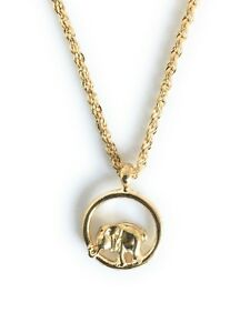 Elephant-Pendant-Charm-20-034-Rope-Chain-Necklace-Gold-Plated-Metal-Christmas-Gifts