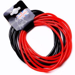 12-x-Black-amp-Red-Gummies-Shag-Bands-Bracelets-fancy-Gummy-Jelly-80-039-s-bangles