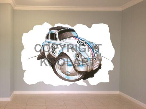 """Huge Koolart Cartoon /""""Herbie/"""" Beetle Wall Sticker Poster Mural 1608"""