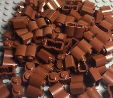 Lego New Bulk X100 Pieces Reddish Brown Legoredo Palisade Bricks Lot 1x2 Logs