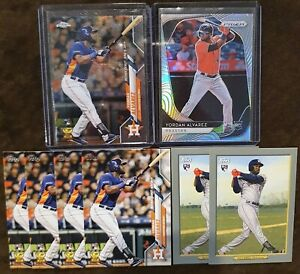 2020 Yordan Alvarez Rookie Lot (8) - Silver Prizm RC, Topps Chrome Rookie Card