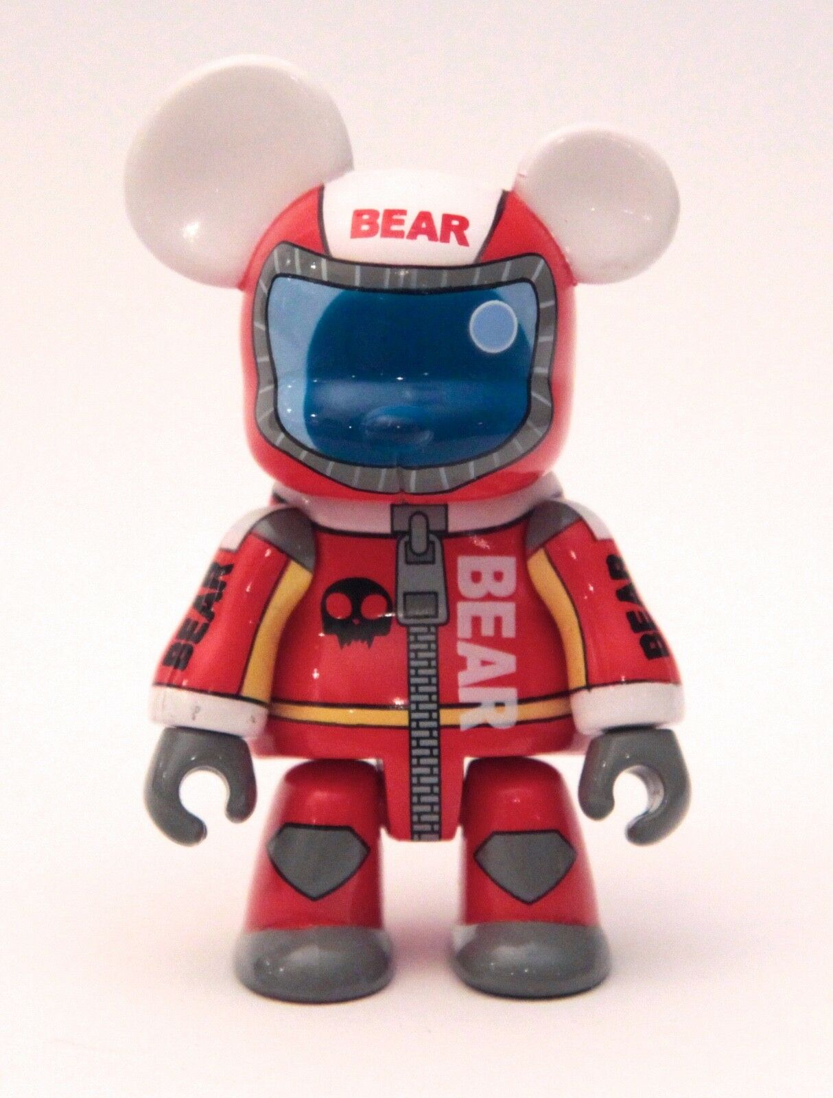 2004 TOY2R   QEE - RED RACER BEAR   VINYL FIGURINE  -  PRE-OWNED