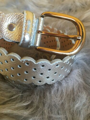 "Length 41/"" Woman Belt Silver with Buckle New without tag."