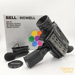Bell-amp-Howell-MS45-Modular-System-Xl-Zoom-Sound-Super-8-Camera-Working-XL-2078