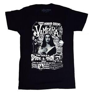 Kreepsville-666-Vampira-Spookathon-Gothic-Horror-Punk-Mens-Black-T-Shirt-Size-XL