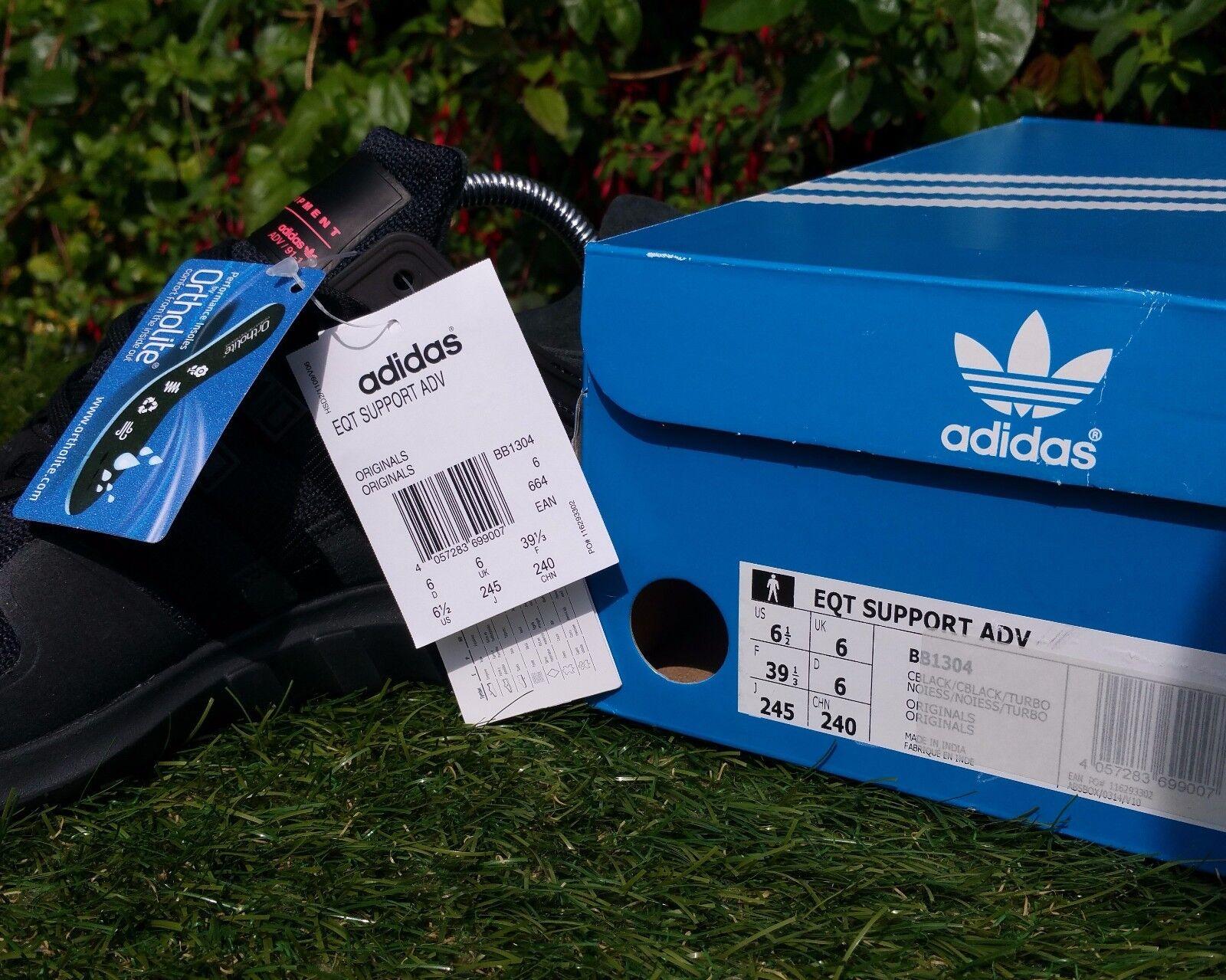 Soporte de equipos BNWB Adidas EQT ADV ®  Tamaños Shadow  Triple Negro Zapatillas Todos Los Tamaños  7e7ecb