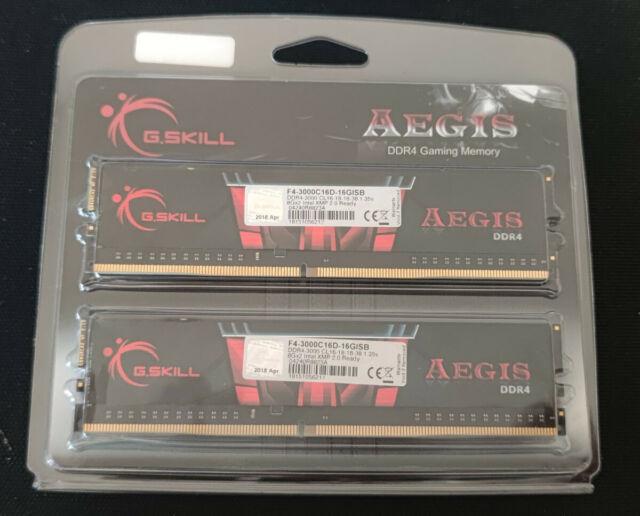 16GB GSkill F4-3000C16D-16GISB Aegis DDR4-3000 Kit / WIE NEU