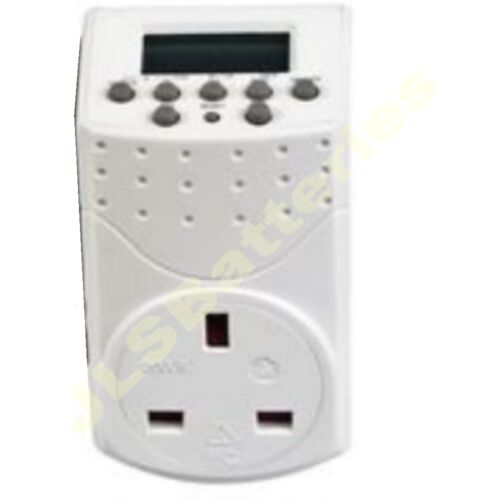 3 xDigital Electronic 24 Hour LCD Timer 13A Sockets Plug WEEKLY DAILY PROGRAMMES