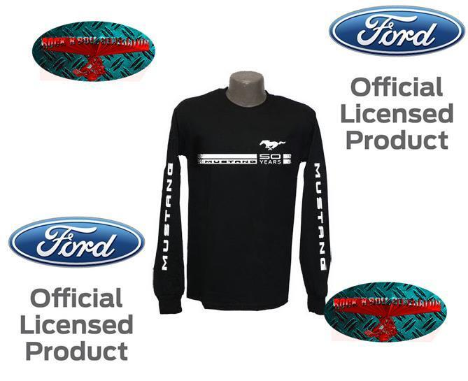 FORD Mustang LONGSLEEVE SHIRT - 50 Years Anniversary Licensed Product Shelby T