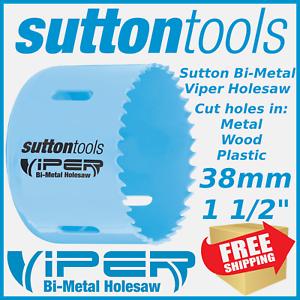 """3/"""" BI-METAL HOLESAW FOR WOOD /& METAL 32mm DEPTH SUTTON VIPER 76mm"""