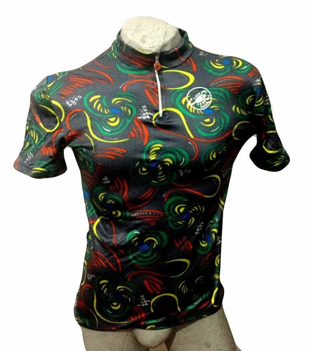 MAGLIA CICLISMO MADE CASTELLI SHIRT TRIKOT MAILLOT JERSEY MADE CICLISMO IN ITALY VINTAGE 7598a0