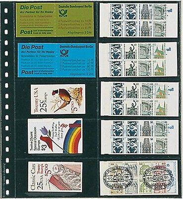 Klebefälze & Klebestreifen 10er-packung Suche Nach FlüGen Lindner 725p Klarsichthüllen Für Markenheftchen Briefmarken