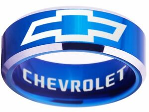 Chevrolet-Ring-Chevy-Wedding-Band-8mm-Tungsten-Blue-Sizes-4-17