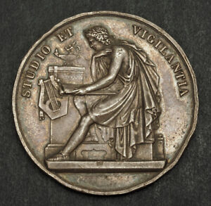 1780-Switzerland-Geneva-Silver-034-Prize-for-Literature-034-Award-Medal-28-03gm