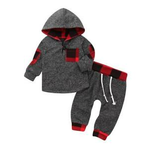 9319a01e65589 Details about Toddler Baby Boys Girls Outfits Clothes Hoodie T-shirt Tops+Pants  2PCS Outfits